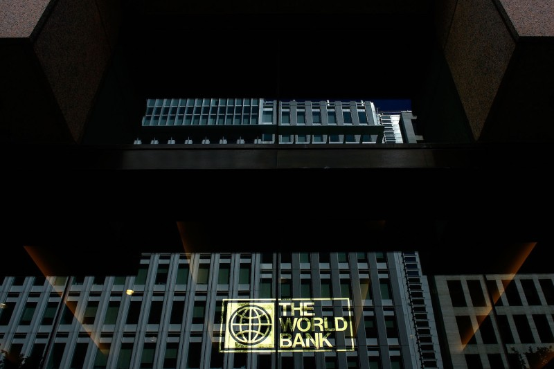 The World Bank headquarters in Washington on May 8, 2007. (Win McNamee/Getty Images)