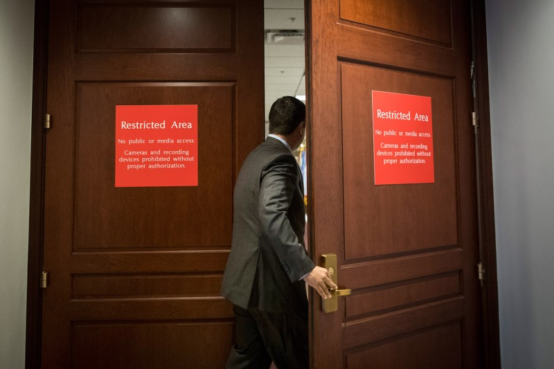 House Intelligence Committee Chairman Devin Nunes on Capitol Hill in Washington, D.C., on July 25, 2017. (Drew Angerer/Getty Images)