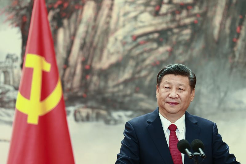 Chinese President Xi Jinping during the unveiling of the Communist Party's new Politburo Standing Committee in Beijing, China, on Oct. 25, 2017. (Lintao Zhang/Getty Images)