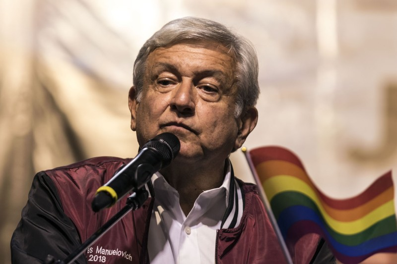 Mexican presidential candidate Andrés Manuel López Obrador at a rally in Tijuana, Mexico, on Jan. 30. (Guillermo Arias/AFP/Getty Images)