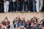Anti-government protesters demonstrate in Bishoftu, Ethiopia on Oct. 1, 2017. (Zacharias Abubeker/AFP/Getty Images)