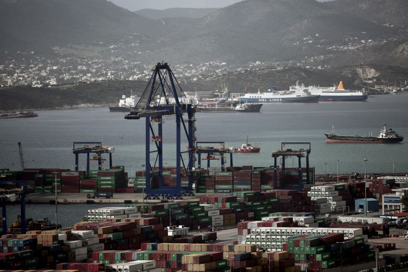 The Greek port of Piraeus on Jan. 31, 2015. (Angelos Tzortzinis/AFP/Getty Images)