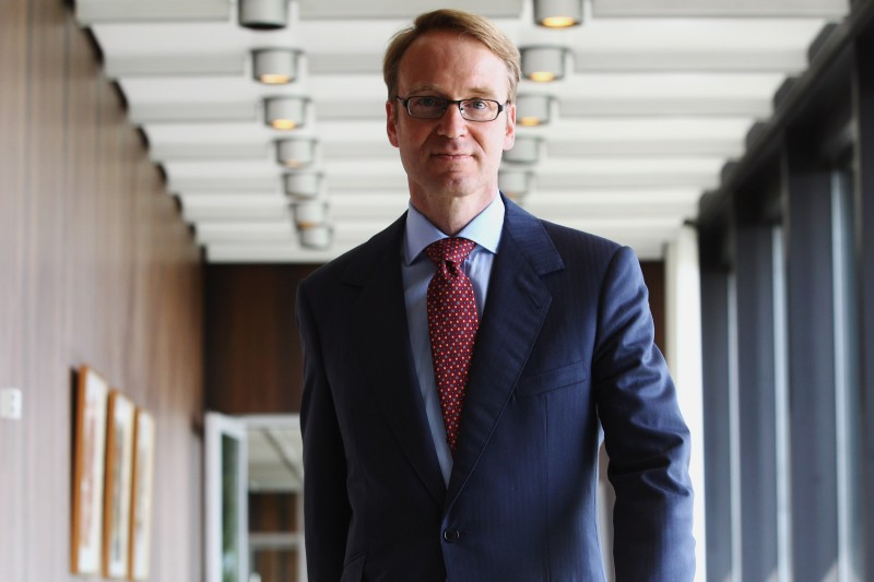 Jens Weidmann presents at the Bundesbank on May 2, 2011 in Frankfurt, Germany. (Alex Grimm/Getty Images)