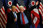 Former Speaker of the House Newt Gingrich introduces Donald Trump during a rally in Cincinnati, Ohio. (John Sommers II/Getty Images)