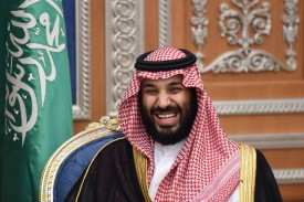 Saudi Crown Prince Mohammed bin Salman attends a meeting on November 14, 2017, in Riyadh. (FAYEZ NURELDINE/AFP/Getty Images)