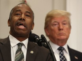 HUD Secretary Dr. Ben Carson speaks at the White House, on January 12, 2018 in Washington, DC.  (Mark Wilson/Getty Images)