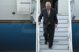 Rex Tillerson U.S. arrives in Mexico City on February 1, 2018. (Hector Vivas/Getty Images)