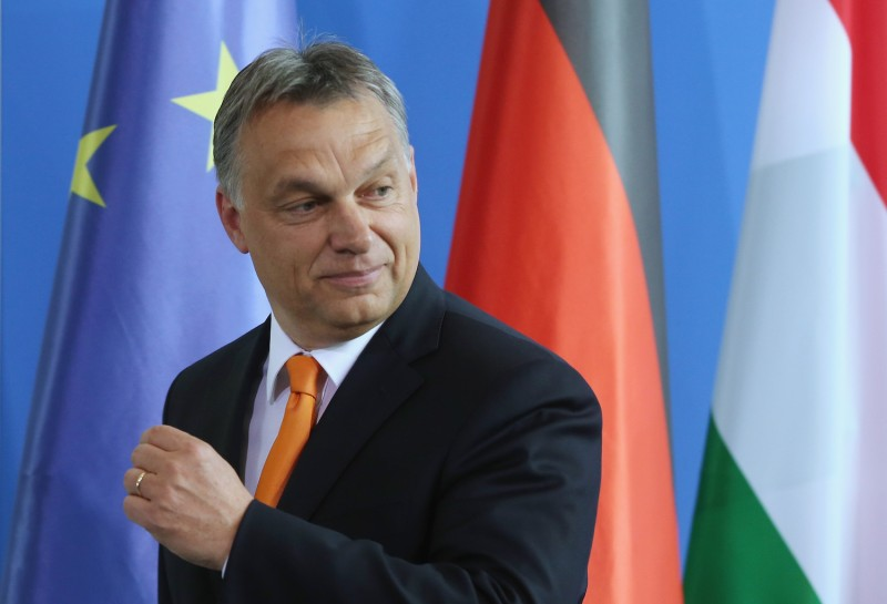 Hungarian Prime Minister Viktor Orban in Berlin, Germany, on May 8, 2014.