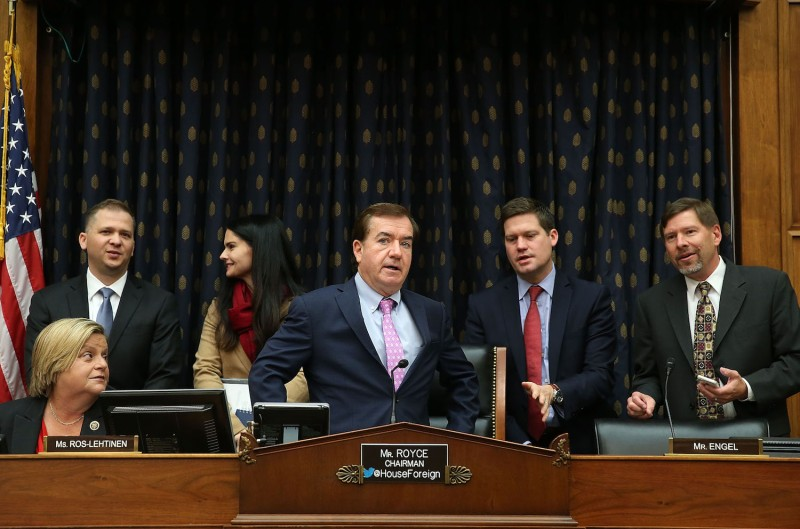 Chairman Ed Royce (R-CA) participates in a House Foreign Affairs Committee hearing on Capitol Hill, November 4, 2015 in Washington, D.C. (Mark Wilson/Getty Images)