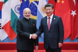 Chinese President Xi Jinping and Indian Prime Minister Narendra Modi at the G20 Summit in Hangzhou, China, on September 4, 2016. (Lintao Zhang/Getty Images)