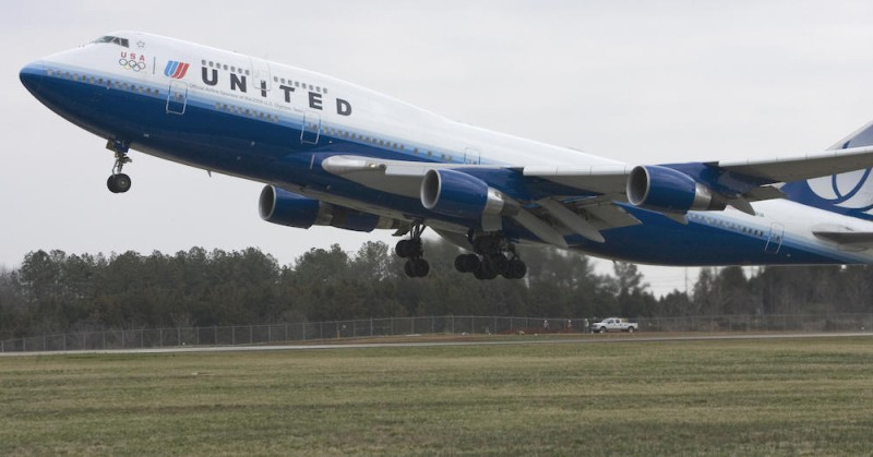 United Airlines flight 897 lifts off from Dulles International Airport on its maiden flight from Washington, DC to Beijing, the first-ever nonstop flight between the two capitals, on March 28, 2007. (Paul J. RIchards/AFP/Getty Images)