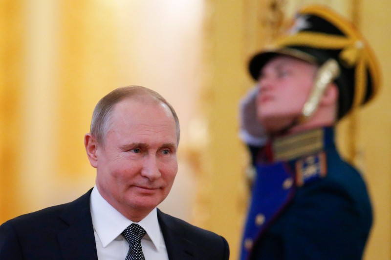 Russian President Vladimir Putin in Moscow on April 5. (Alexander Zemlianichenko/AFP/Getty Images)
