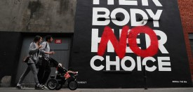 A mural in Dublin's city center by art group Subset calls to Repeal the 8th ahead May 25 ahead of the successful referendum to overturn the 8th Amendment of the Irish Constitution, which bans abortion. Brian Lawless/Press Association via AP