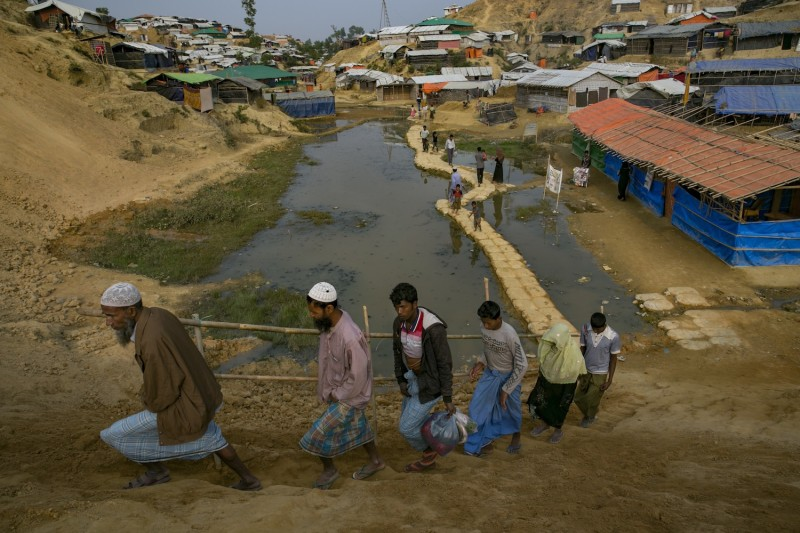 Rohingya refugees in Balukhali camp on January 13, 2018 in Cox's Bazar, Bangladesh.