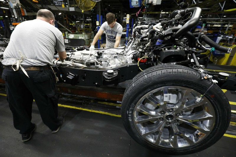 A Ford factory in Kentucky on Oct. 27, 2017. Ford invested in factory upgrades to make all-new, heavier vehicles for a booming U.S. market. (Bill Pugliano/Getty Images)