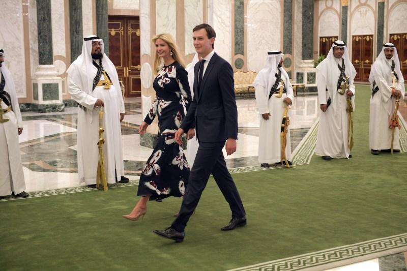 Ivanka Trump andJared Kushner at the presentation of the Order of Abdulaziz al-Saud medal at the Saudi Royal Court in Riyadh on May 20, 2017.(MANDEL NGAN/AFP/Getty Images)