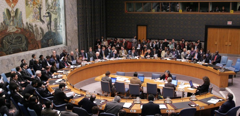 The U.N. Security Council debates sanctioning Iran at U.N. headquarters in New York in March 2007. (Don Emmert/AFP/Getty Images)