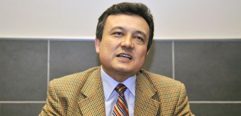 Dolkun Isa, the president of the World Uyghur Congress, in Tokyo on May 2, 2008. (Yoshikazu Tsuno/AFP/Getty Images)