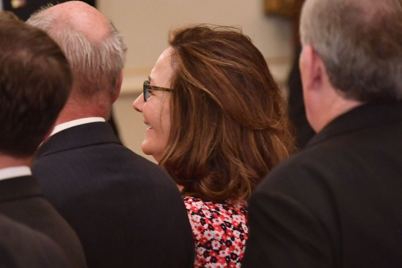CIA director nominee Gina Haspel attends the ceremonial swearing-in of U.S. Secretary of State Mike Pompeo at the State Department on May 2, 2018 in Washington, DC. MANDEL NGAN/AFP/Getty Images