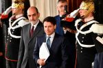 Italian lawyer Giuseppe Conte leaves after a meeting with Italy's President Sergio Mattarella on May 23, 2018 at the Quirinale presidential palace in Rome.(VINCENZO PINTO/AFP/Getty Images)