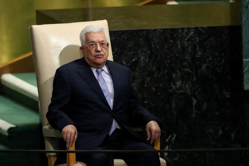 Mahmoud Abbas waits to address the United Nations General Assembly at UN headquarters, September 20, 2017 in New York City.