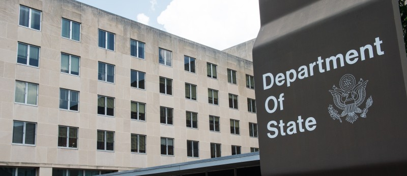 A view of the U.S. Department of State in Washington on July 31,2014.  (Paul J. Richards/AFP/Getty Images)