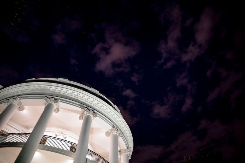 A nighttime view of the White House in Washington, D.C., on May 27, 2017. (Brendan Smialowski/AFP/Getty Images)