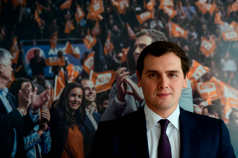 Leader of 'Ciudadanos' (Citizens) political party, Albert Rivera in Madrid on February 7, 2018. (PIERRE-PHILIPPE MARCOU/AFP/Getty Images)