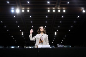Gina Haspel is sworn in during her confirmation hearing to become CIA director in Washington, D.C., on May 9. (Chip Somodevilla/Getty Images)