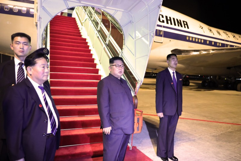 North Korean leader Kim Jong Un departs Singapore  on June 12. (Singapore Ministry of Communications and Information via Getty Images)