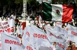 View of supporters of Mexican presidential candidate Andres Manuel Lopez Obrador, during a campaign rally in Texcoco, state of Mexico. (Alfredo Estrella/AFP)