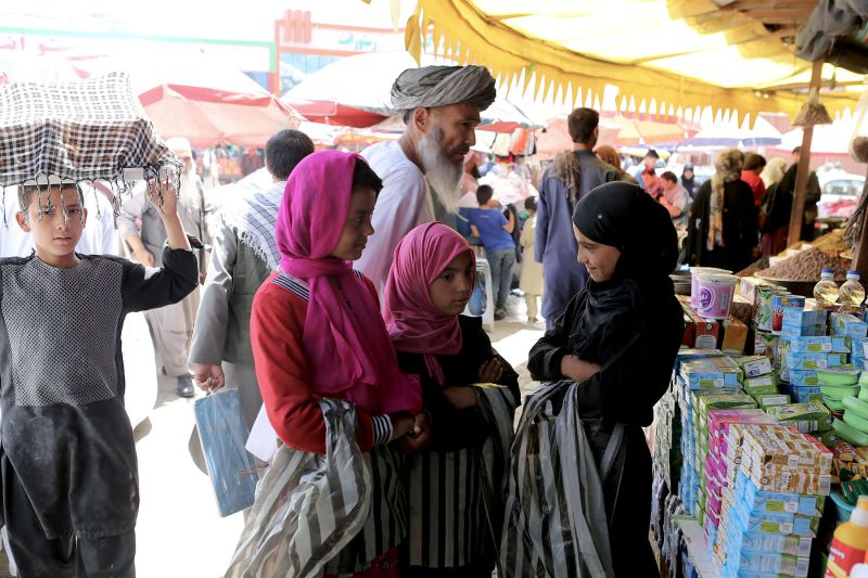 "Children working as street hawkers at a bazaar in western Kabul say their biggest fears are ""terrorist attacks"" where they work and kidnappings. (Preethi Nallu/Samuel Hall)"