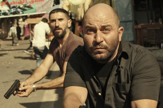 Lior Raz, right, and Doron Ben-David play undercover Israeli operatives in Fauda, now available on Netflix. (Netflix)