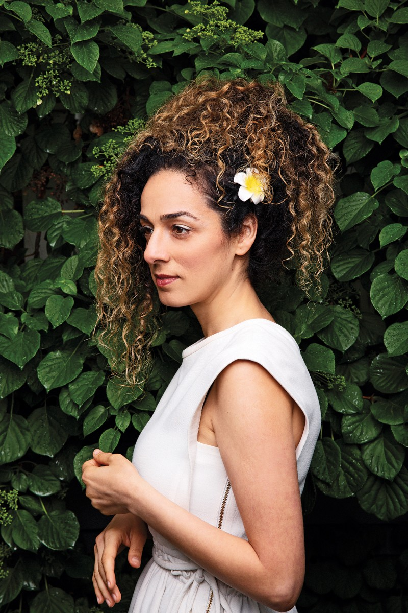 Masih Alinejad outside her home in New York in May. (Jesse Dittmar for Foreign Policy)