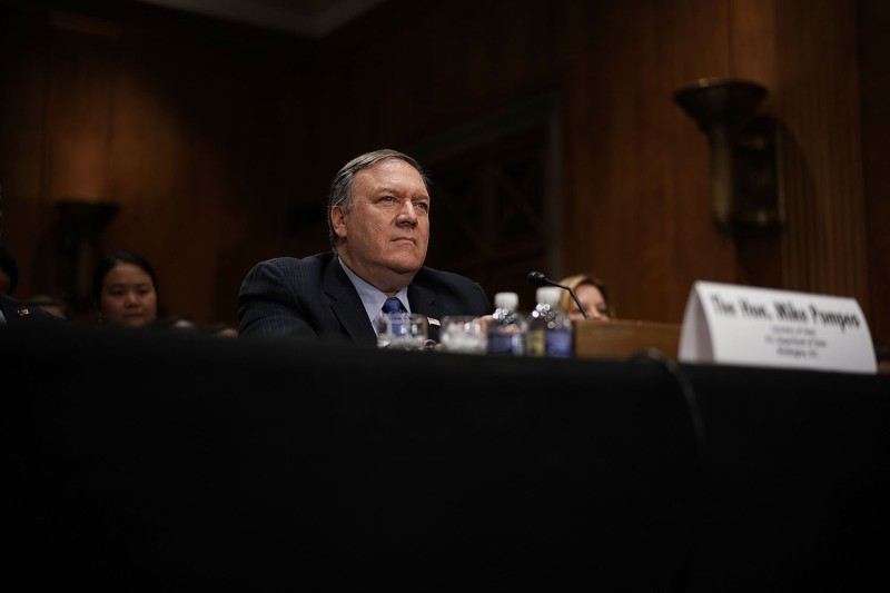 U.S. Secretary of State Mike Pompeo testifies before the Senate Foreign Relations Committee on Capitol Hill on July 25. (Alex Wong/Getty Images)
