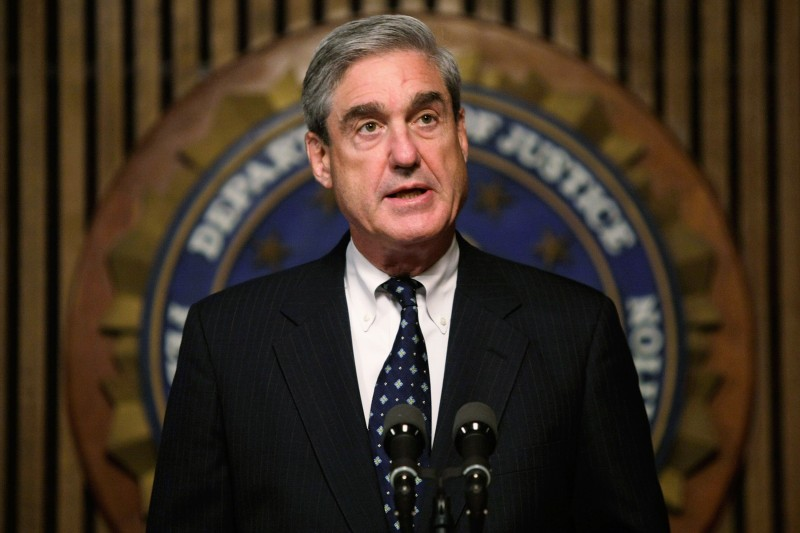 Robert Mueller speaks during a news conference at the FBI headquarters June 25, 2008 in Washington, DC. (Alex Wong/Getty Images)