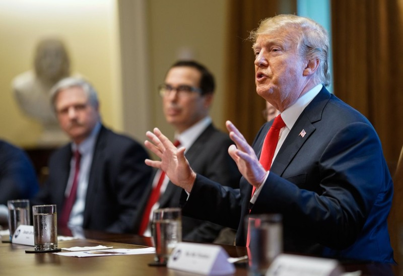 U.S. President Donald Trump discuss immigration issues during a meeting with Republican members of Congress and cabinet members at the White House on June 20. (Mandel Ngan/AFP/Getty Images)