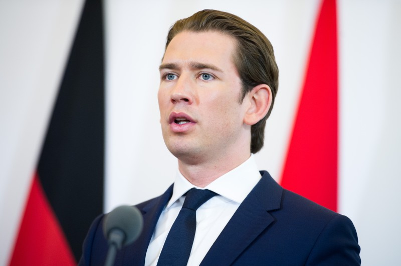Austrian Chancellor Sebastian Kurz at the Federal Chancellery on July 5, 2018 in Vienna, Austria. (Michael Gruber/Getty Images)