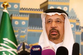 Saudi energy minister Khalid al-Falih, the architect of OPEC's production restraints that drove prices higher in recent years, in Baghdad on May 22, 2017.