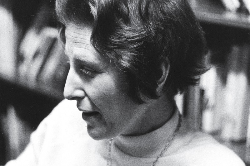 Photograph of Judith Shklar, March 1972. UAV 605.295.11, Box 3.  Harvard University Archives.
