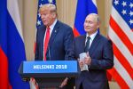 U.S. President Donald Trump and Russia's President Vladimir Putin arrive to attend a joint press conference after a meeting in Helsinki on July 16. (Yuri Kadobnov/AFP/Getty Images)
