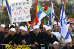 Members of the Israeli Druze community and their supporters protest against the Israeli nation-state law in Tel Aviv on Aug. 4. (Jack Guez/AFP/Getty Images)