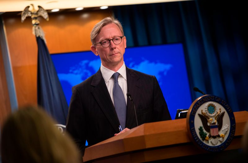 The State Department's director of policy planning and new head of the Iran Action Group, Brian Hook, speaks during a press briefing at the State Department in Washington on Aug. 16. (Andrew Caballero-Reynolds/AFP/Getty Images)