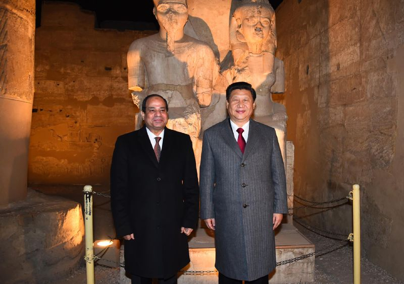 Egyptian President Abdel Fattah al-Sisi and Chinese President Xi Jinping during their visit to Luxor, Egypt, on Jan. 21, 2016. (AFP/Getty Images)