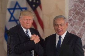 President Donald Trump and Israel's Prime Minister Benjamin Netanyahu during a visit to the Israel Museum on May 23, 2017 in Jerusalem, Israel. (Lior Mizrahi/Getty Images.)