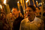 White supremacists demonstrate on the University of Virginia campus in Charlottesville, Va., on Aug. 11, 2017. (Samuel Corum/Anadolu Agency/Getty Images)