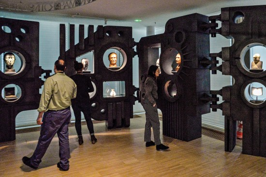 """The """"Founding Fathers"""" exhibit at the House of European History highlights key architects of European integration. (DominiqueHommel/European Union 2018 – EP)"""