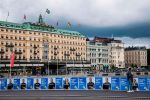 Political posters in Stockholm, Sweden, on Sept. 1, ahead of the Sept. 9 general elections. (Jonathan Nackstrand/AFP/Getty Images)