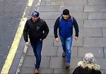 In this handout photo issued by the London Metropolitan Police, poisoning suspects Alexander Petrov and Ruslan Boshirov are shown on CCTV in Salisbury on March 4. (Metropolitan Police via Getty Images)