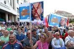 People attend a demonstration against Hungary's Prime Minister Viktor Orban on Sept. 16 in Budapest as the European Commission considered disciplinary action against Orban's policies. (Laszlo Balogh/Getty Images)